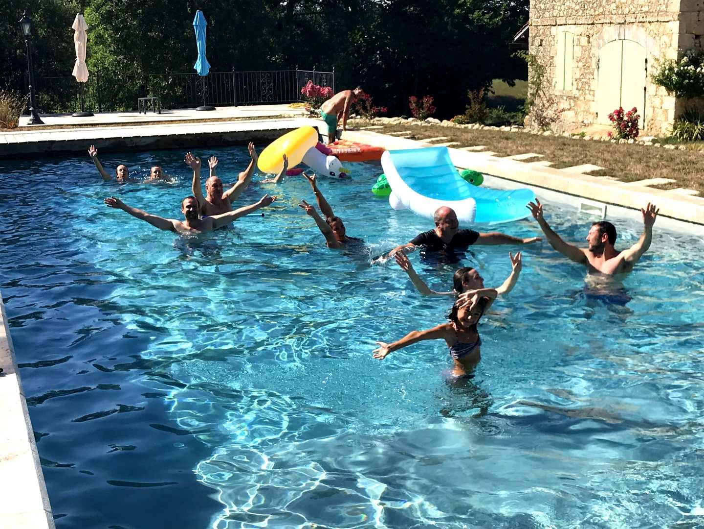 Grande piscine au Domaine de Lajean à Jégun